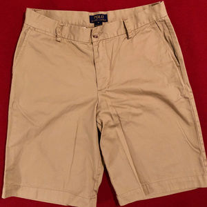 Polo by Ralph Lauren flat front khaki shorts